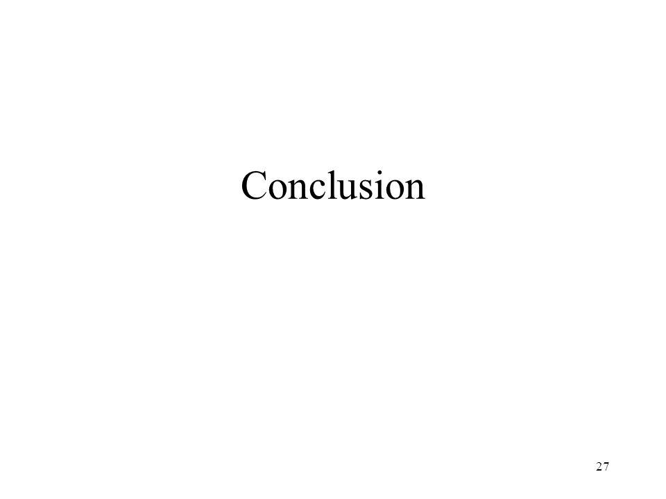 27 Conclusion