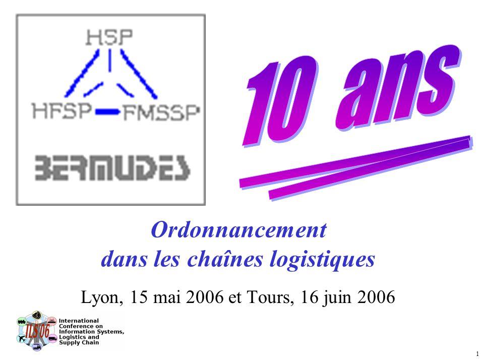 1 Ordonnancement dans les chaînes logistiques Lyon, 15 mai 2006 et Tours, 16 juin 2006