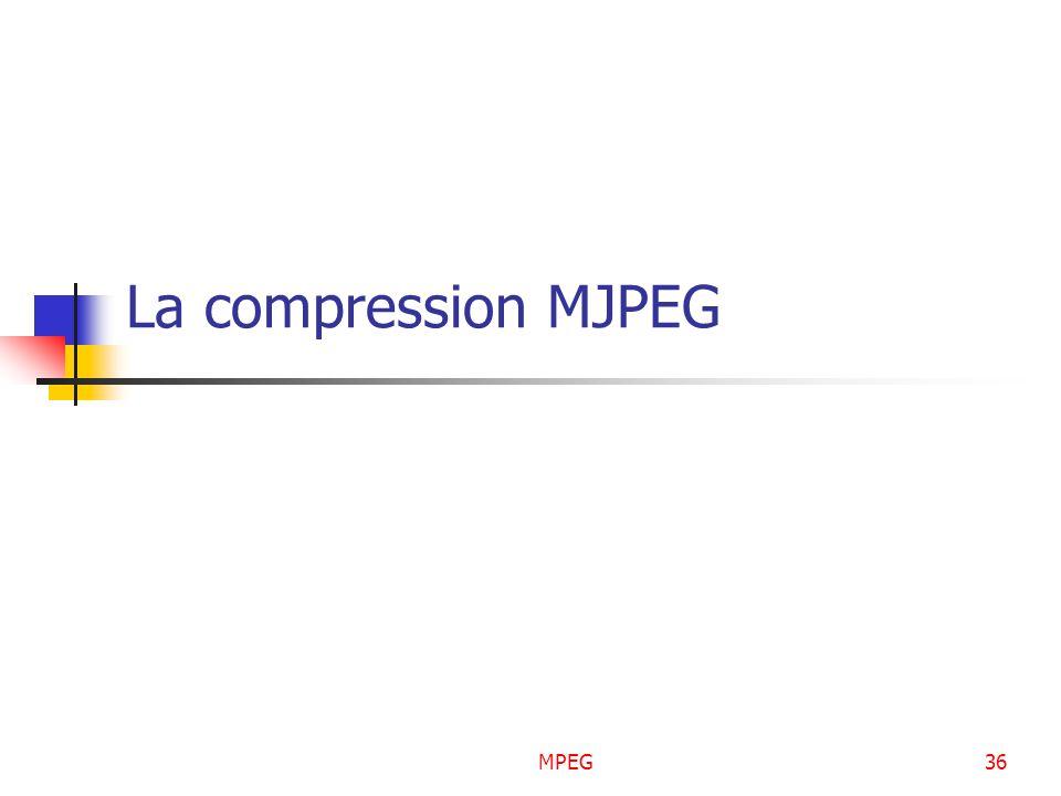 MPEG36 La compression MJPEG