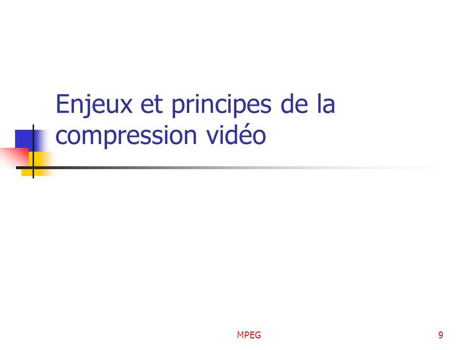 MPEG9 Enjeux et principes de la compression vidéo