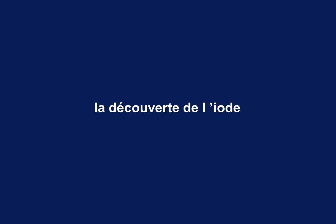 la découverte de l iode