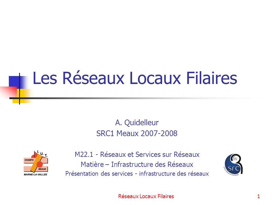 Réseaux Locaux Filaires2 Plan Les supports des réseaux filaires Les méthodes daccès au support Ethernet – La norme IEEE 802.3 Les équipements dinterconnexion