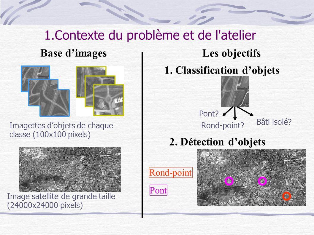 c.Extraction de la zone de l objet On attend des images Pléiades sub-métriques où la géométrie est plus prépondérante...