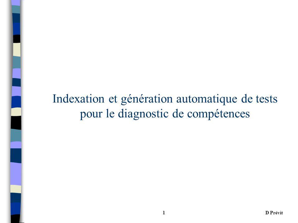 D Prévit1 Indexation et génération automatique de tests pour le diagnostic de compétences