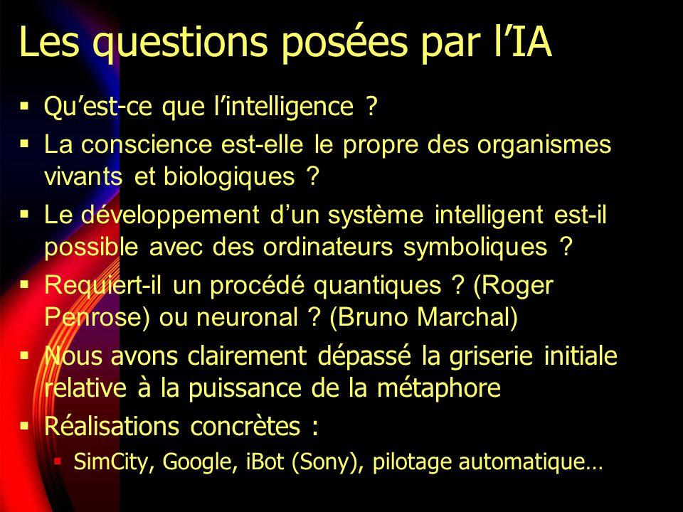 Les questions posées par lIA Quest-ce que lintelligence .