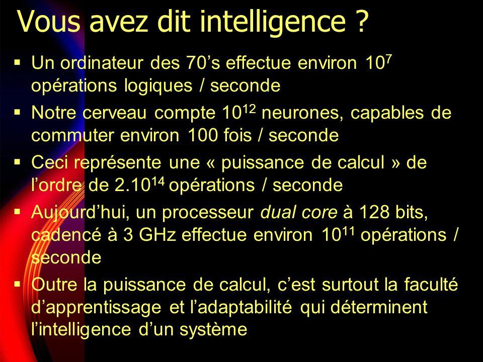 Vous avez dit intelligence .