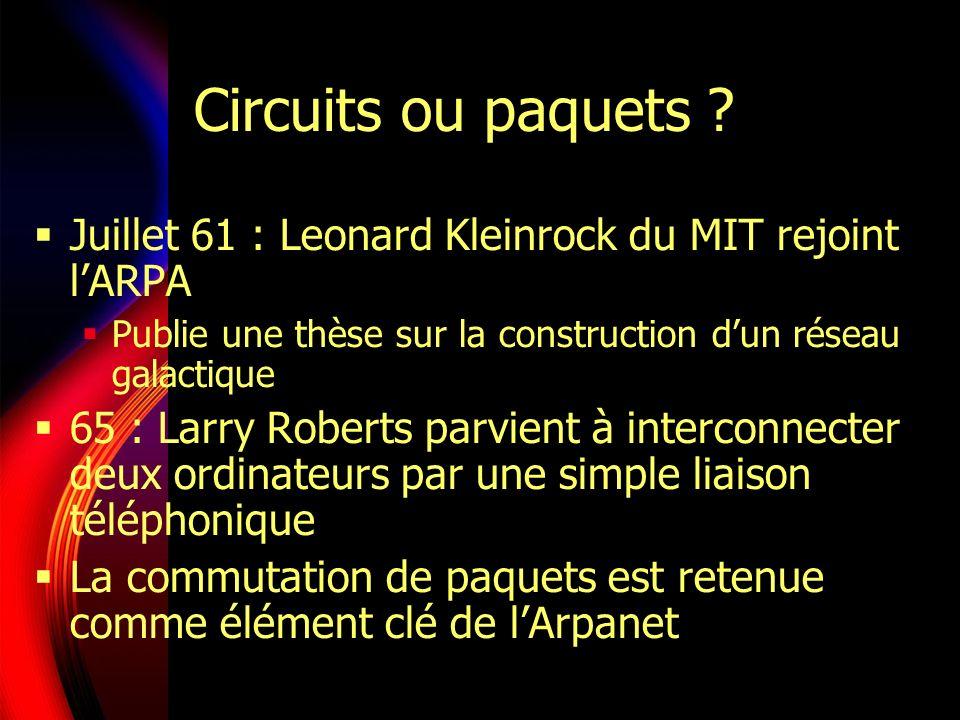 Circuits ou paquets .