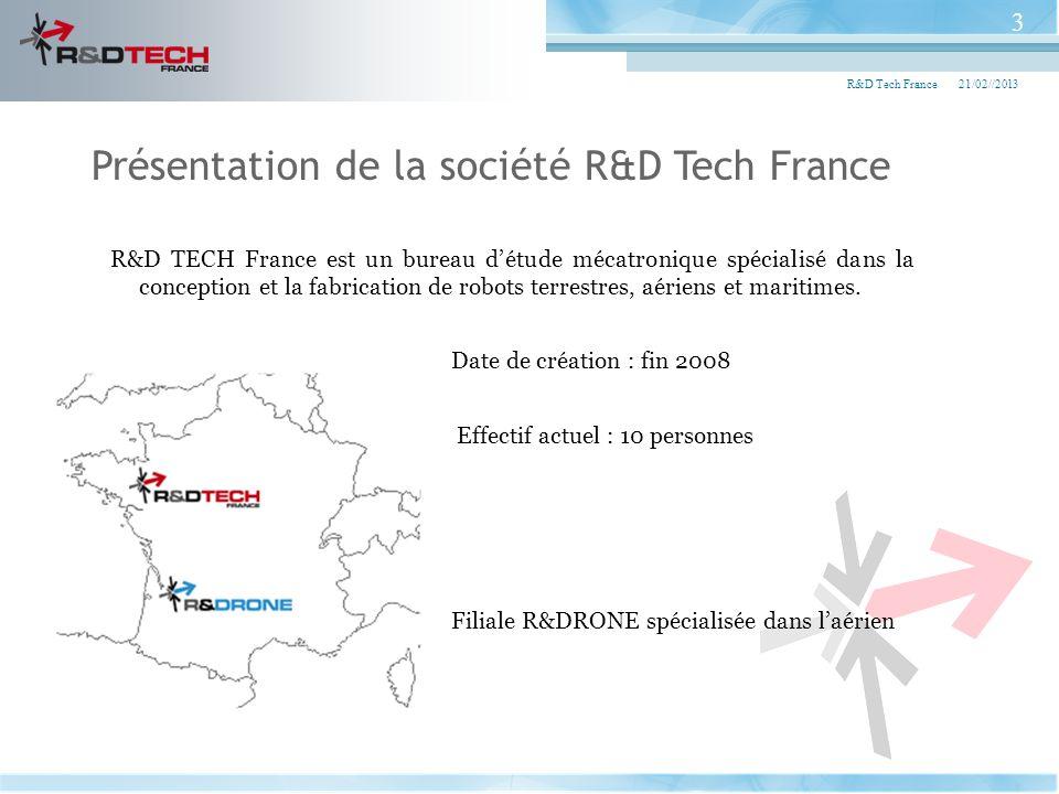 R&D TECH France est un bureau détude mécatronique spécialisé dans la conception et la fabrication de robots terrestres, aériens et maritimes. Date de