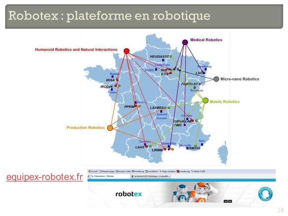 Robotex : plateforme en robotique 15 equipex-robotex.fr