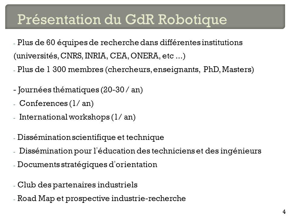 - Plus de 60 équipes de recherche dans différentes institutions (universités, CNRS, INRIA, CEA, ONERA, etc...) - Plus de 1 300 membres (chercheurs, en