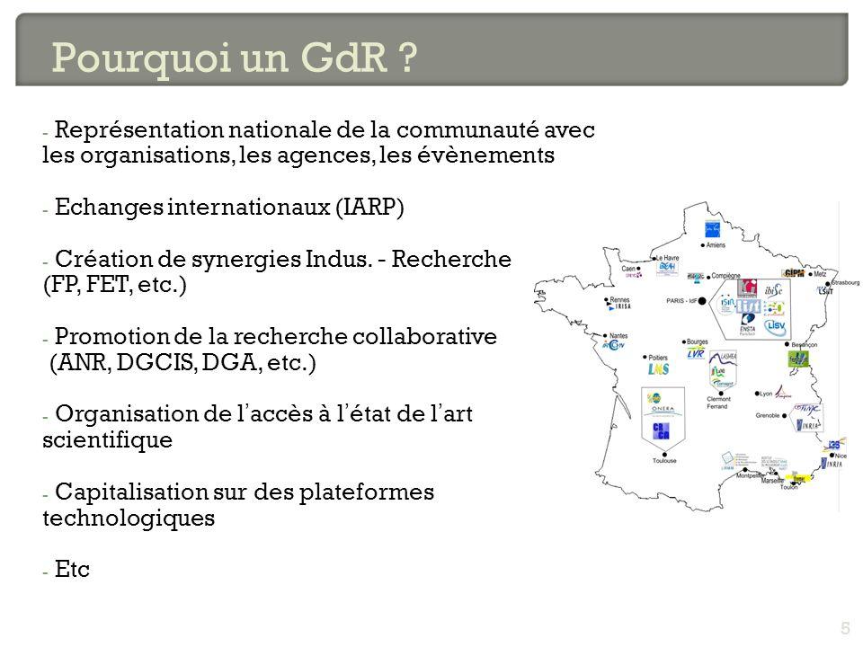 - Représentation nationale de la communauté avec les organisations, les agences, les évènements - Echanges internationaux (IARP) - Création de synergi