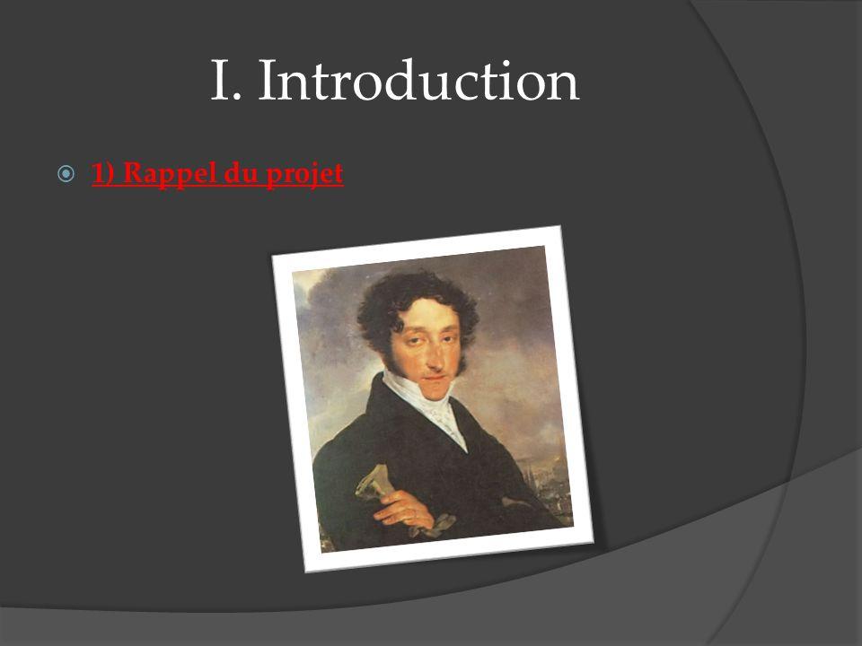 I. Introduction 2) Rappel de l histoire Les personnages :