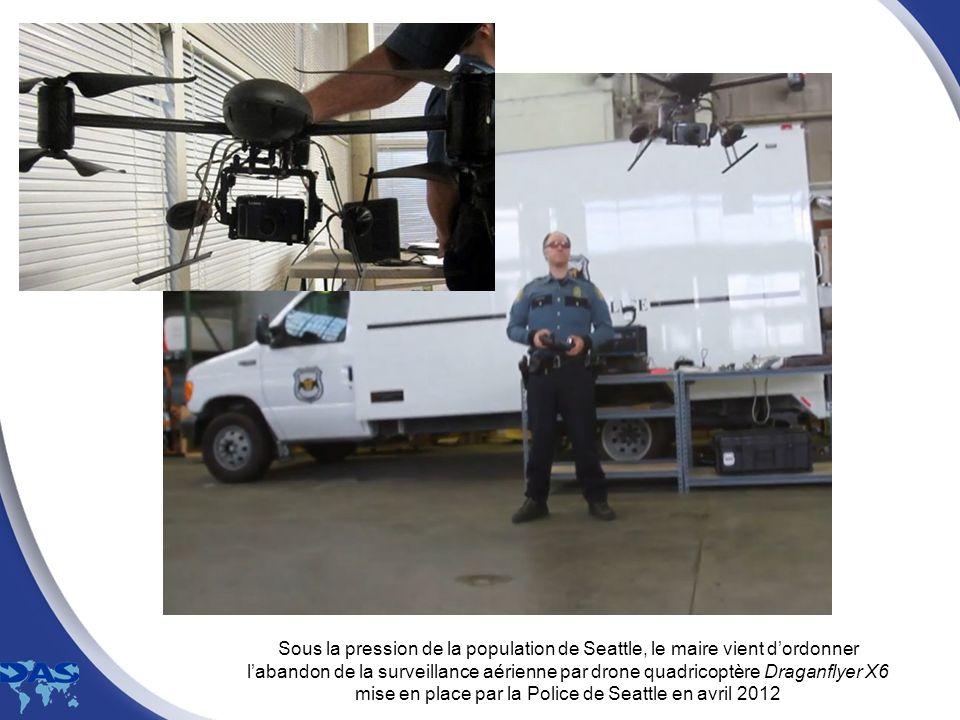 Sous la pression de la population de Seattle, le maire vient dordonner labandon de la surveillance aérienne par drone quadricoptère Draganflyer X6 mis