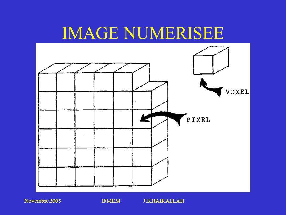 Novembre 2005IFMEM J.KHAIRALLAH IMAGE NUMERISEE