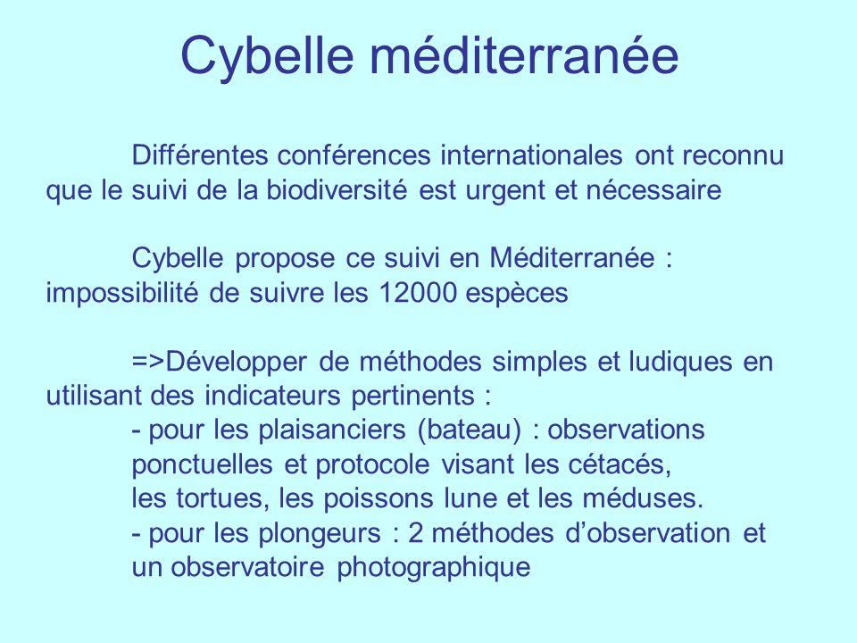Cybelle méditerranée Différentes conférences internationales ont reconnu que le suivi de la biodiversité est urgent et nécessaire Cybelle propose ce s