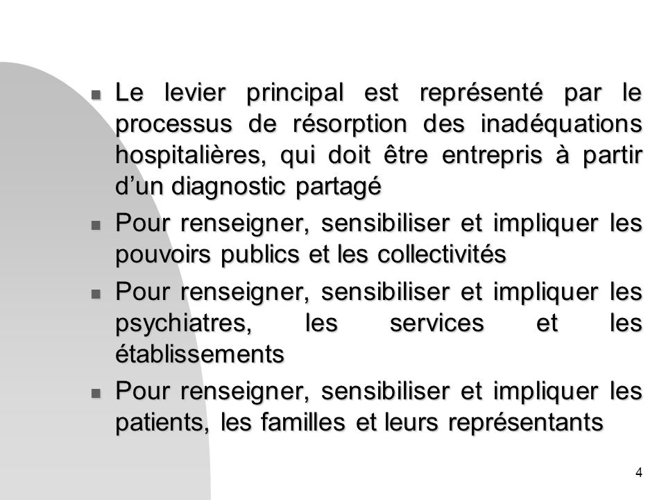 5 Lenquête elle-même : - Pour être exhaustive, elle devrait être étendue aux enfants et aux personnes âgées, et aux besoins de soins des usagers des services médico-sociaux et sociaux.