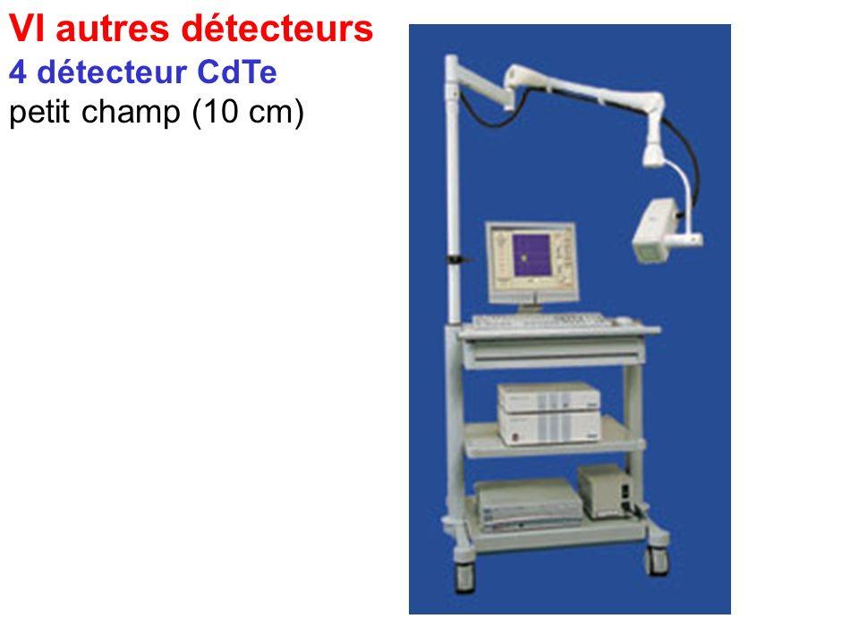 VI autres détecteurs 3 détecteur a pm localisateur petit champ (10 cm) petits organes : thyroïde