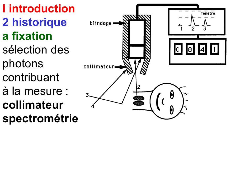 I introduction 2 historique a fixation mesure de la fixation de l'Iode 131 sur la thyroïde chaîne de comptage 23