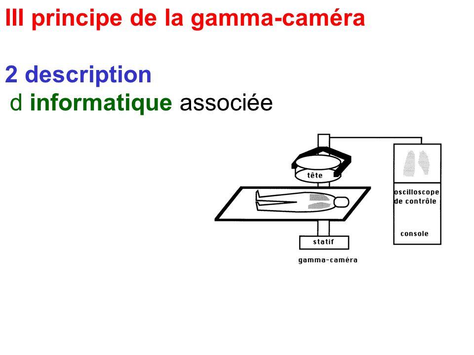 III principe de la gamma-caméra 2 description c console de commande - spectrométrie - paramètres image: temps, nb événements - mode (statique, dyn, co