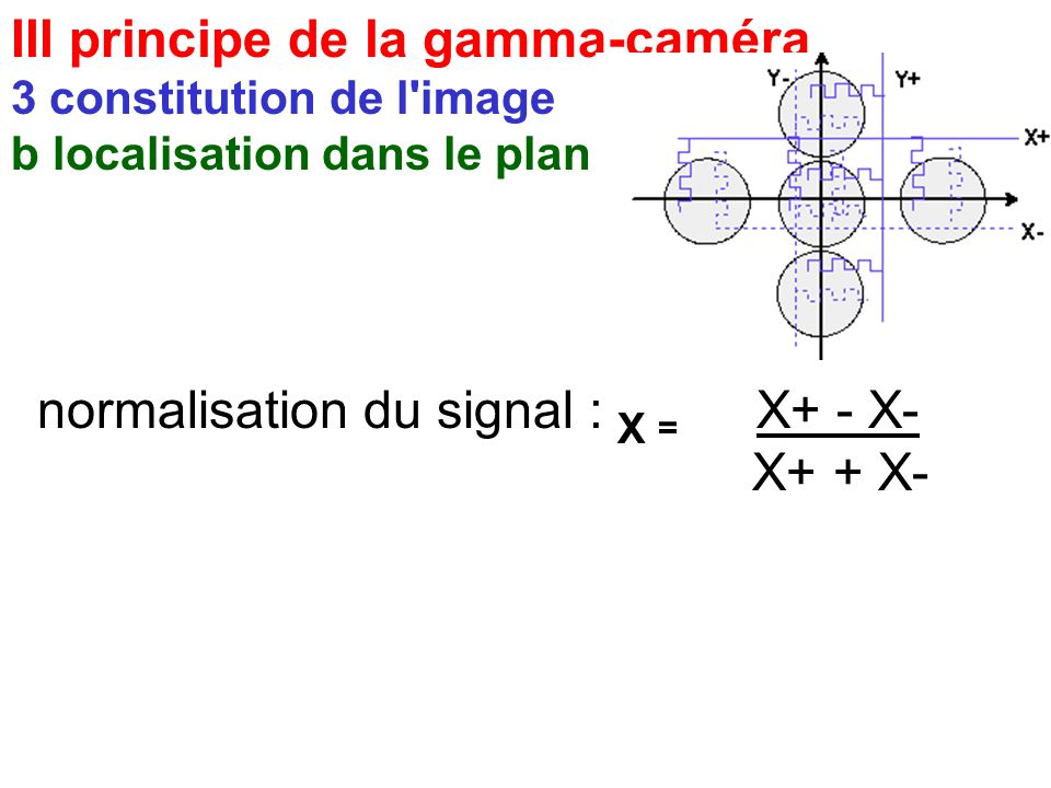 III principe de la gamma-caméra 3 constitution de l'image b localisation dans le plan