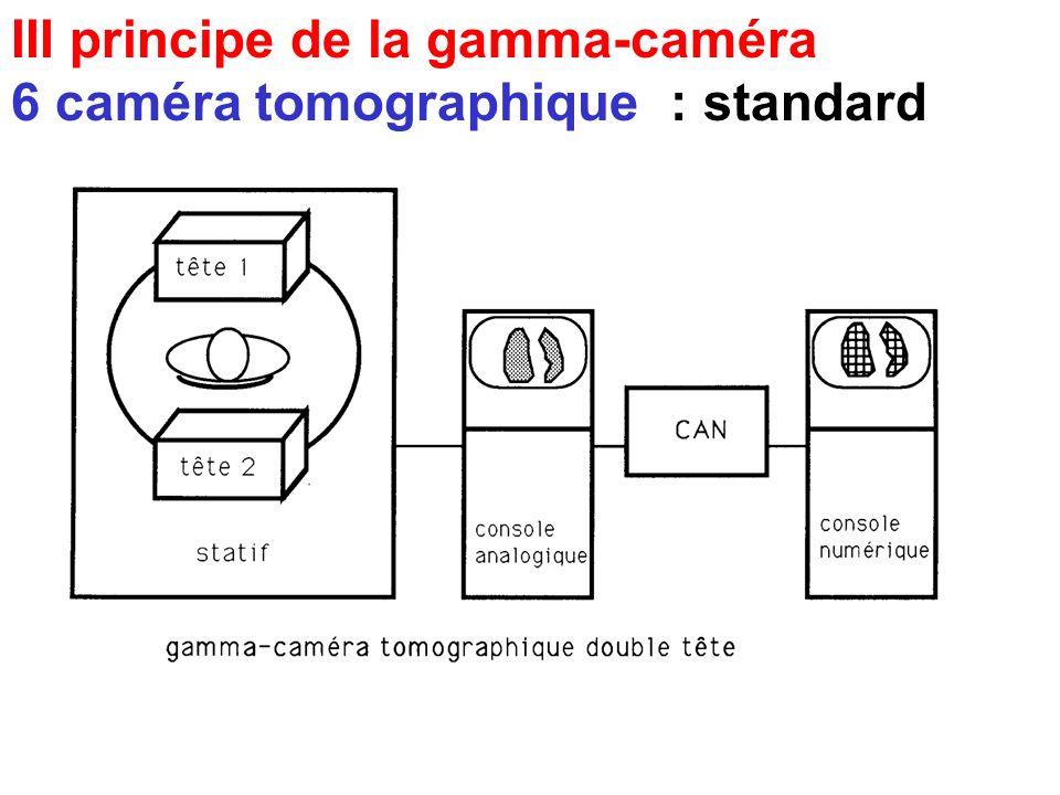 III principe de la gamma-caméra 5 informatique c paramètres de limage numérique - taille de la matrice : 64x64 dynamique 256x256 statique - profondeur