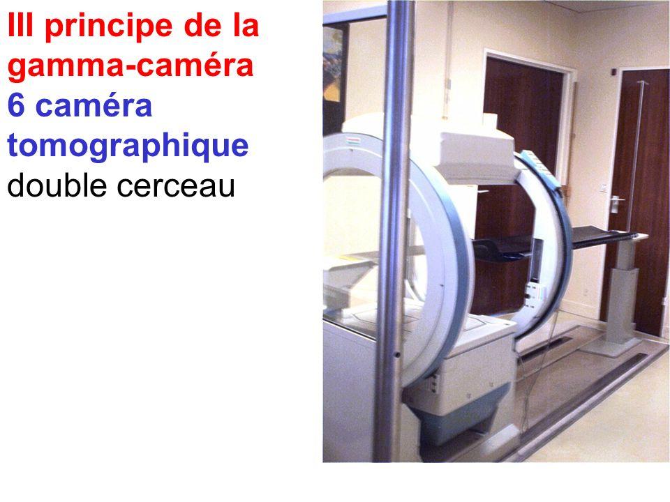 III principe de la gamma-caméra 6 caméra tomographique : standard