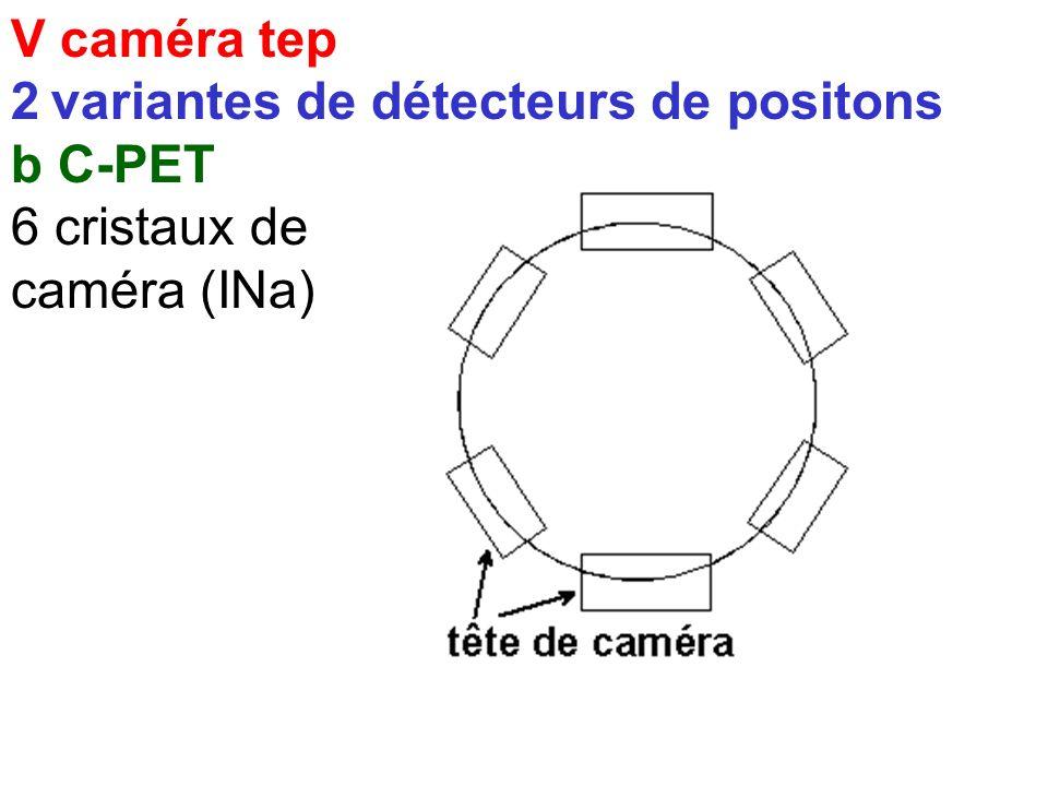 V caméra tep 2 variantes de détecteurs de positons a TEP standart petits cristaux BGO ou LSO
