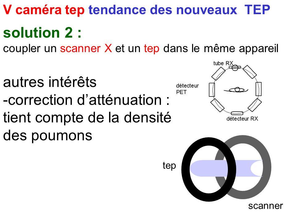 V caméra tep tendance des nouveaux TEP solution 2 : coupler un scanner X et un tep dans le même appareil