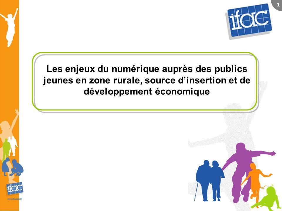 Les enjeux du numérique auprès des publics jeunes en zone rurale, source dinsertion et de développement économique 1