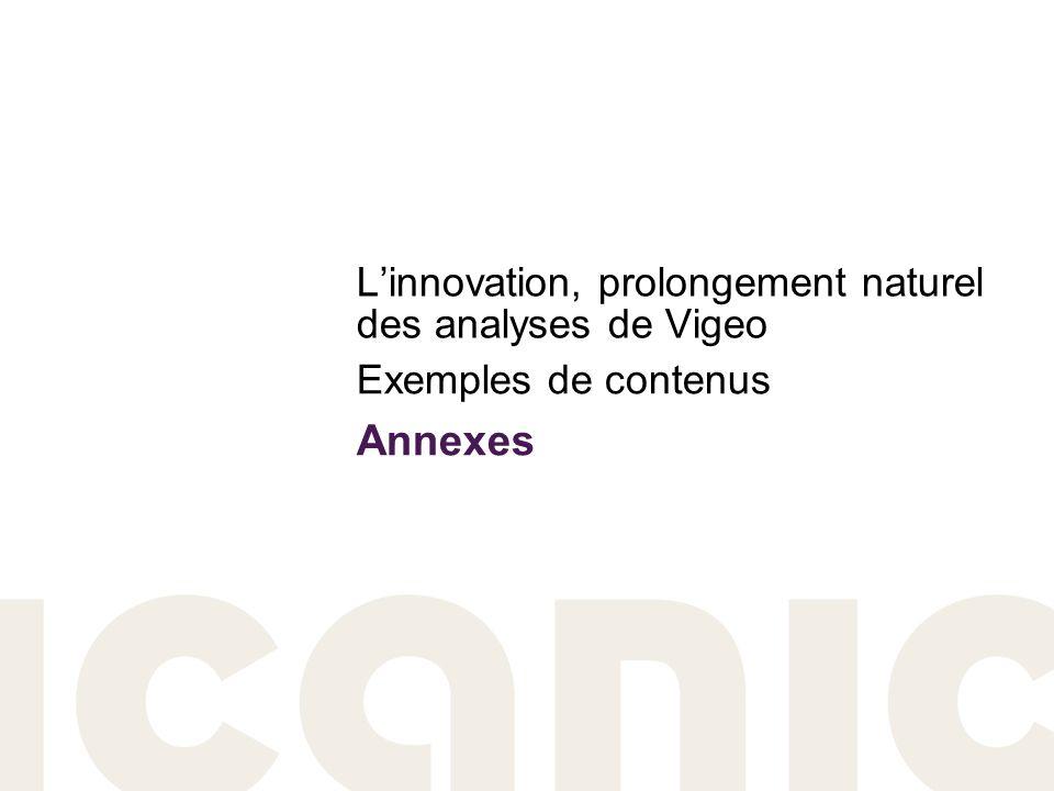Linnovation, prolongement naturel des analyses de Vigeo Exemples de contenus Annexes