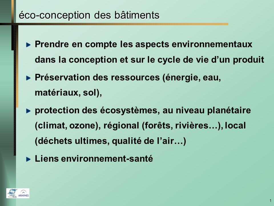 Outils daide à léco-conception des bâtiments Bruno PEUPORTIER MINES ParisTech – CES Réunion plénière du réseau thématique « TIC & Environnement » (RT8) Jeudi 12 septembre 2013, Paris