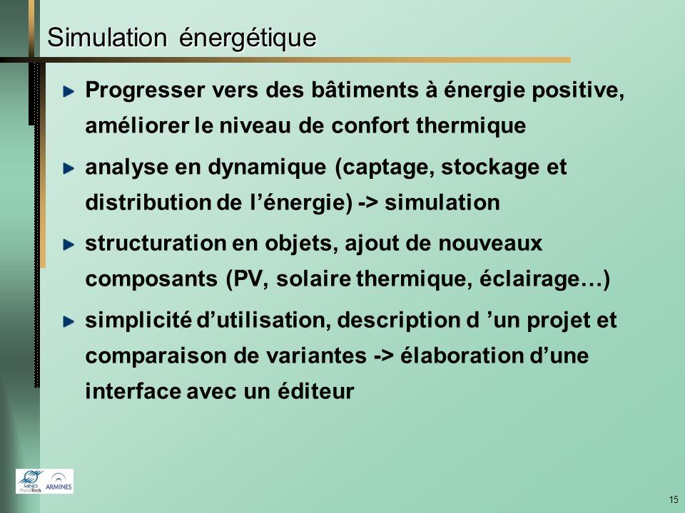 14 Extension de lACV à léchelle du quartier Énergie >0 Basse énergie Cité Descartes