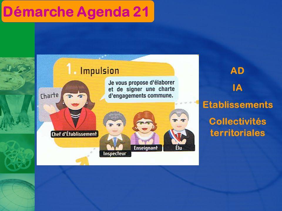 AD IA Etablissements Collectivités territoriales Démarche Agenda 21
