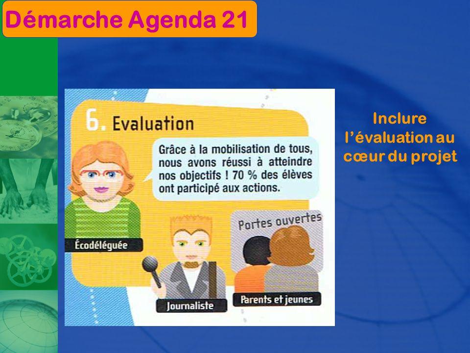Inclure lévaluation au cœur du projet Démarche Agenda 21