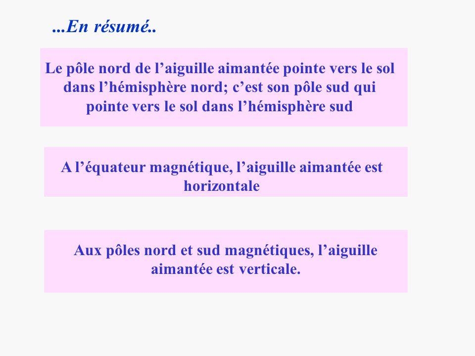 NmNm P O I P Méridien géographique Ng Méridien magnétique Le méridien magnétique......