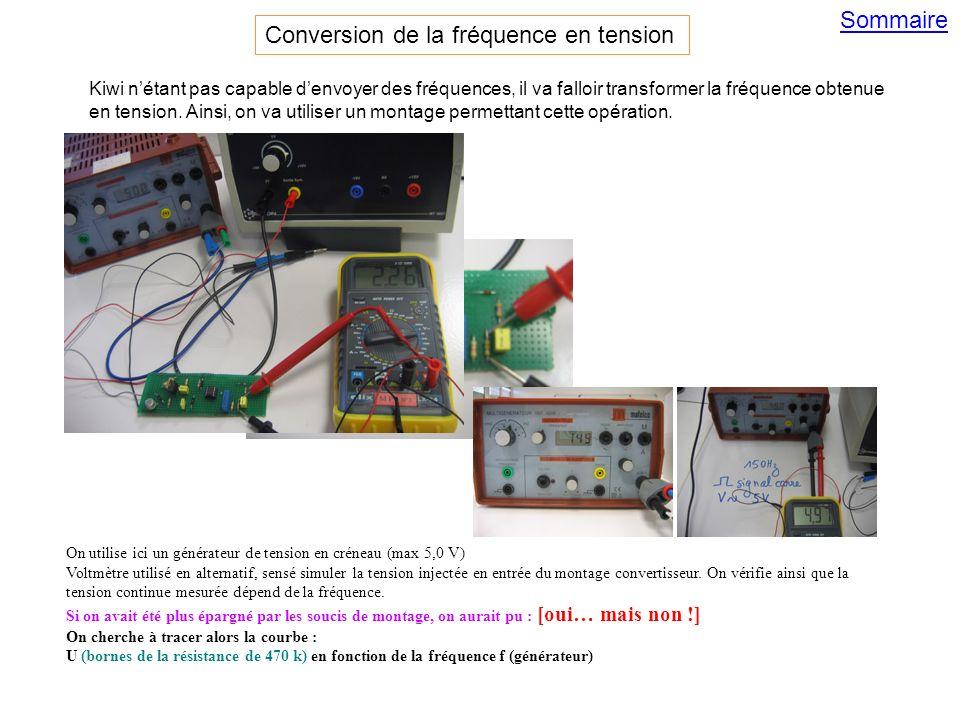 Sommaire On utilise ici un générateur de tension en créneau (max 5,0 V) Voltmètre utilisé en alternatif, sensé simuler la tension injectée en entrée du montage convertisseur.