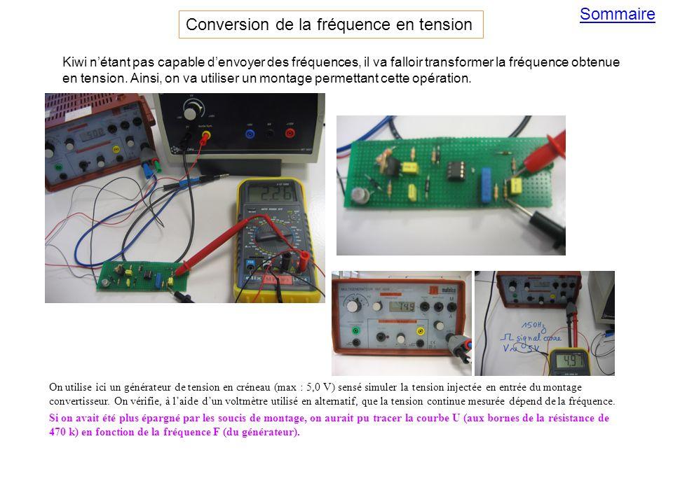On utilise ici un générateur de tension en créneau (max : 5,0 V) sensé simuler la tension injectée en entrée du montage convertisseur. On vérifie, à l
