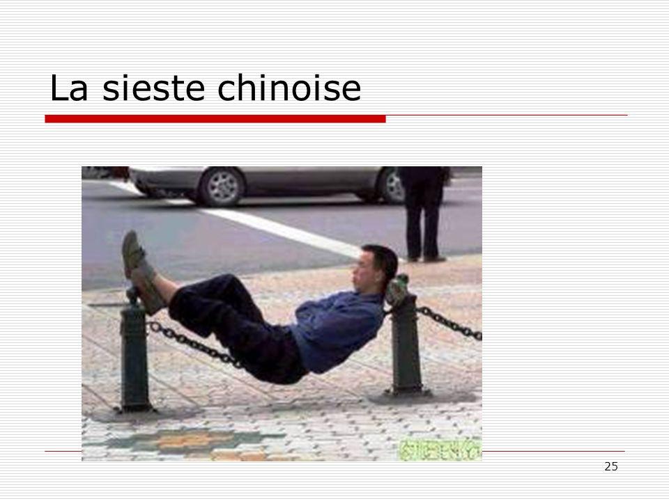 25 La sieste chinoise
