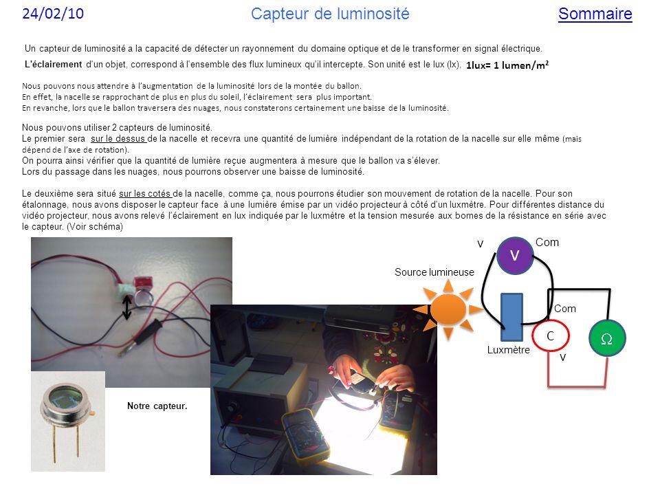 Nous pouvons utiliser 2 capteurs de luminosité. Le premier sera sur le dessus de la nacelle et recevra une quantité de lumière indépendant de la rotat
