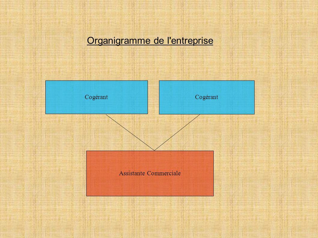Cogérant Assistante Commerciale Organigramme de l'entreprise