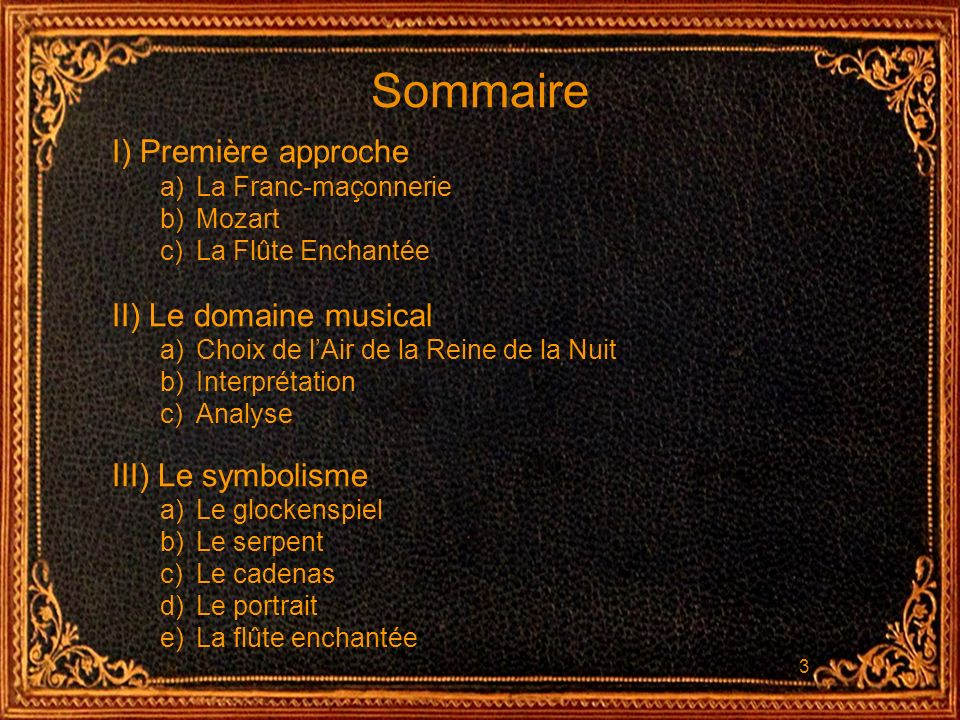 14 III) Le symbolisme La flûte enchantée