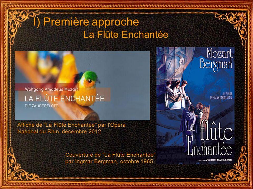 6 I) Première approche La Flûte Enchantée Affiche de