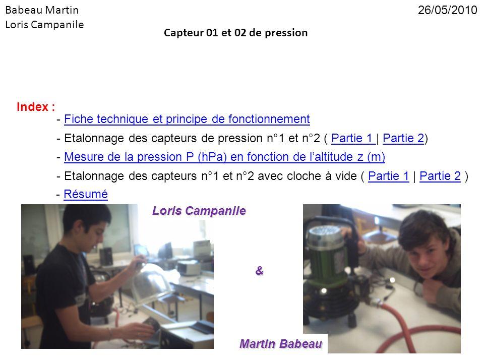 Babeau Martin Loris Campanile Capteur 01 et 02 de pression - Fiche technique et principe de fonctionnementFiche technique et principe de fonctionnemen