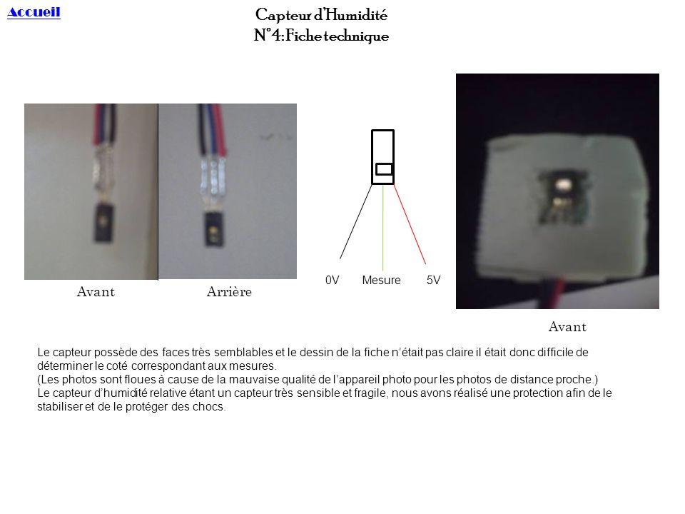 Etalonnage du capteur 04 3-03-10 10-03-10 Pour réaliser létalonnage du capteur dhumidité, il nest possible deffectuer que 2 mesures par jour (dehors et dedans).