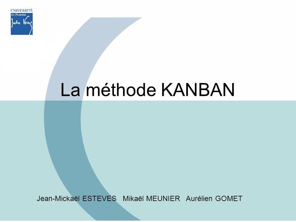 La méthode KANBAN Jean-Mickaël ESTEVES Mikaël MEUNIER Aurélien GOMET