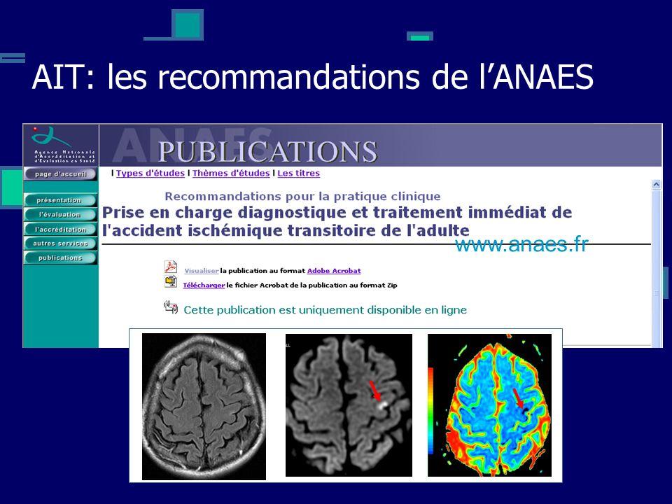 AIT: les recommandations de lANAES www.anaes.fr