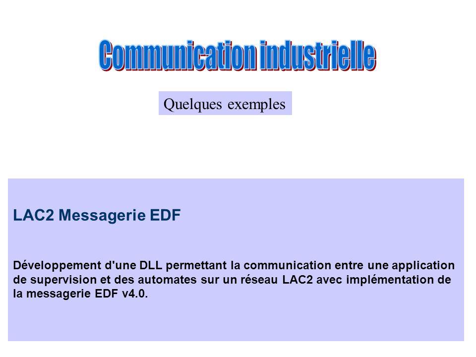 LAC2 Messagerie EDF Développement d'une DLL permettant la communication entre une application de supervision et des automates sur un réseau LAC2 avec