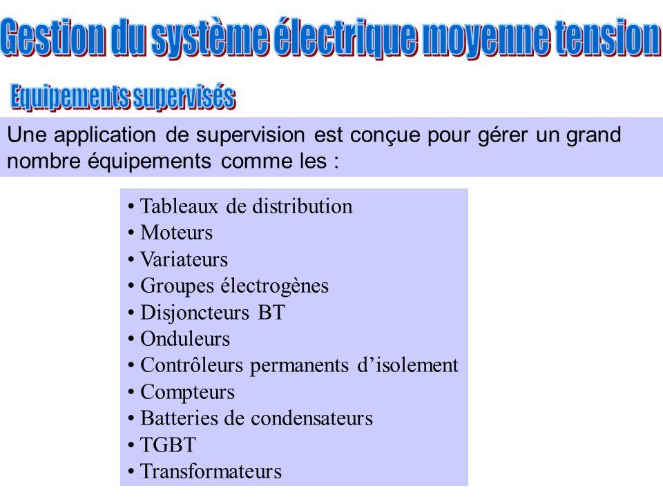 Tableaux de distribution Moteurs Variateurs Groupes électrogènes Disjoncteurs BT Onduleurs Contrôleurs permanents disolement Compteurs Batteries de co