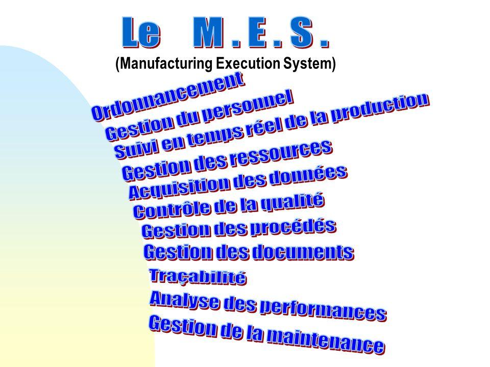 Les travaux sur la S95 ont été menés par lISA (Instrumentation, Systems & Automation Committee) sur la base des fonctionnalités du MES déjà identifiées par le MESA.