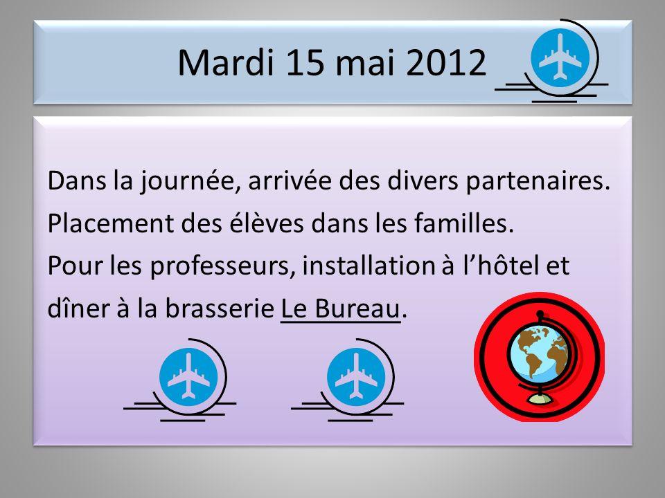 PROJET COMENIUS : ENERGY IN OUR LIVES Programme de la mobilité à Montmorency 15-20 mai 2012 Programme de la mobilité à Montmorency 15-20 mai 2012